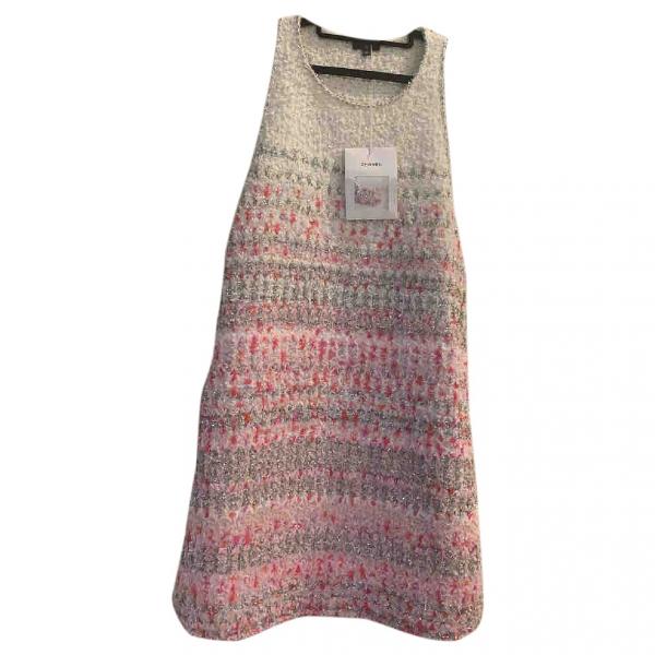 Chanel Multicolour Tweed Dress