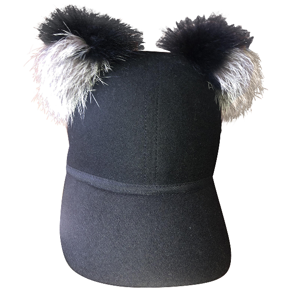 Charlotte Simone Black Fur Hat