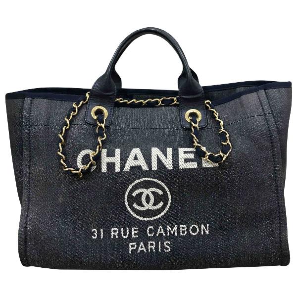 Chanel Deauville Blue Denim - Jeans Handbag