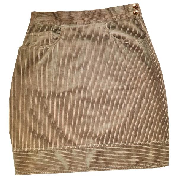Moschino Brown Cotton Skirt