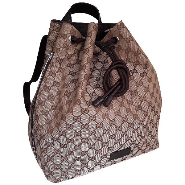 Gucci Beige Cloth Backpack