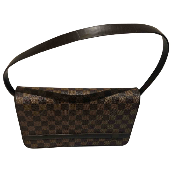 Louis Vuitton Brown Cloth Handbag