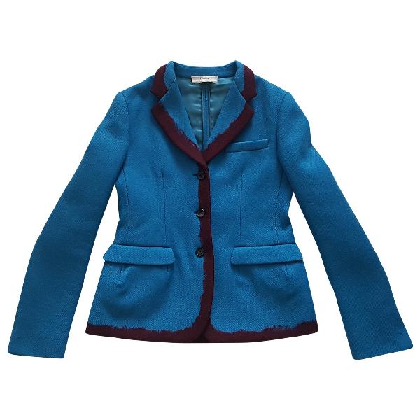 Prada Turquoise Wool Jacket