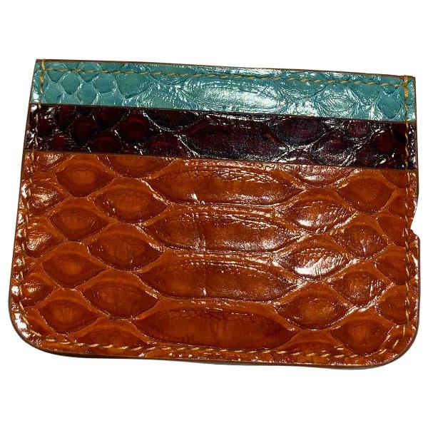 Sophie Hulme Multicolour Leather Wallet