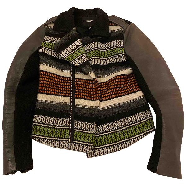 Maje Multicolour Leather Jacket