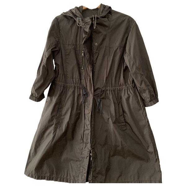 Prada Green Cotton Trench Coat