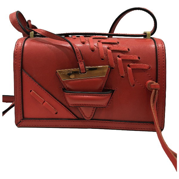 Loewe Barcelona Red Leather Handbag