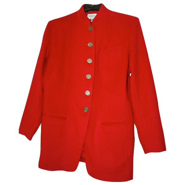 Emanuel Ungaro Red Wool Jacket