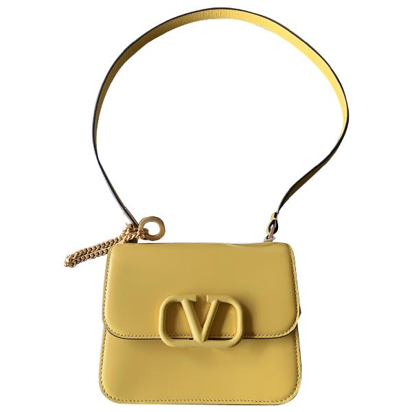 Valentino Garavani Vsling Yellow Leather Handbag