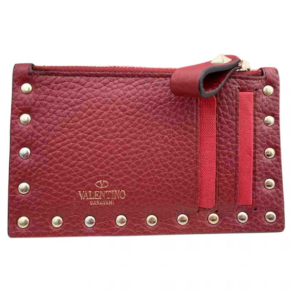 Valentino Garavani Red Leather Purses, Wallet & Cases
