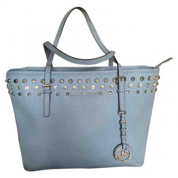 Michael Kors Jet Set Blue Leather Handbag