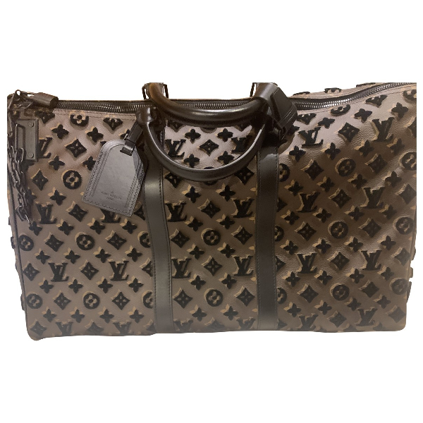 Louis Vuitton Keepall Brown Leather Bag