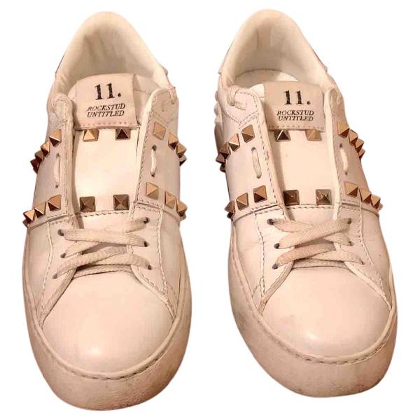 Valentino Garavani White Leather Trainers
