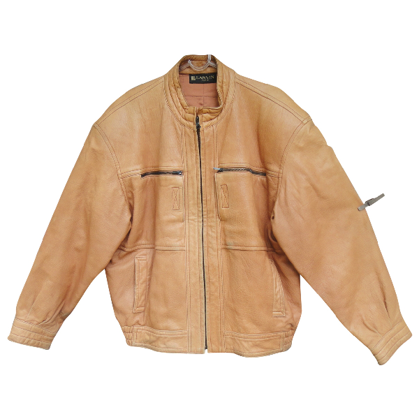 Lanvin Beige Leather Jacket