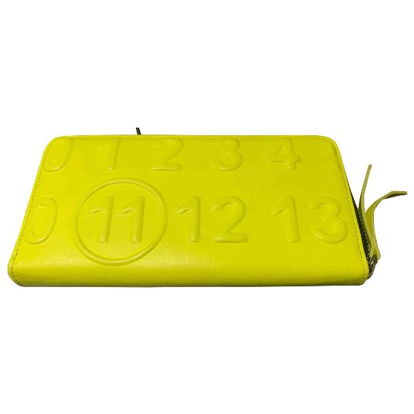 Maison Margiela Yellow Leather Wallet