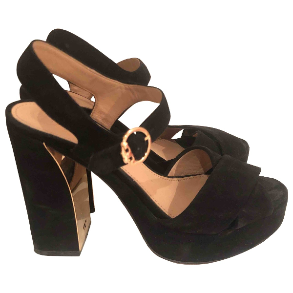 Tory Burch Black Suede Heels