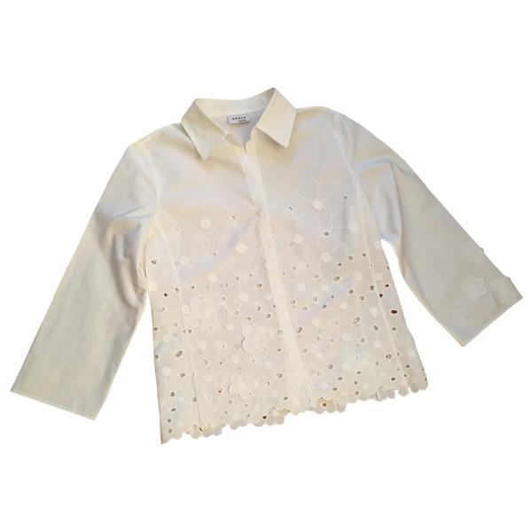 Akris Punto White Cotton  Top