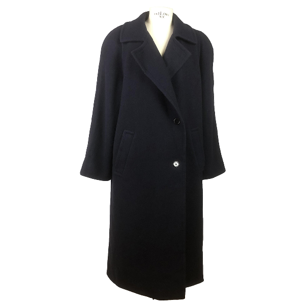 Aquascutum Blue Wool Coat