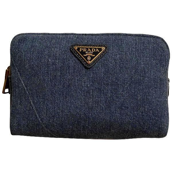 Prada Blue Denim - Jeans Clutch Bag