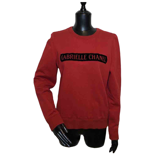 Chanel Red Cotton Knitwear