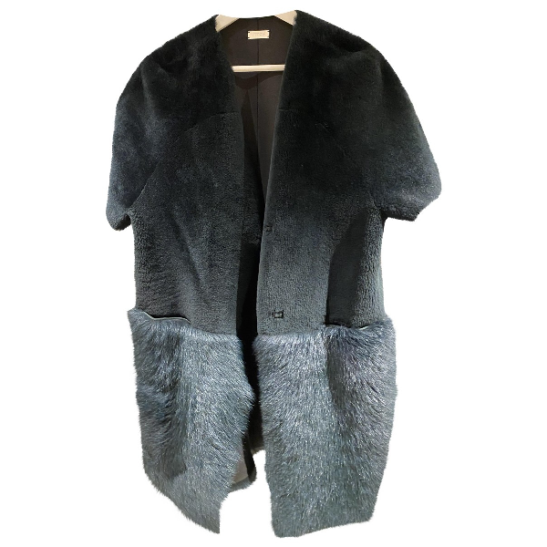 Utzon Green Shearling Coat