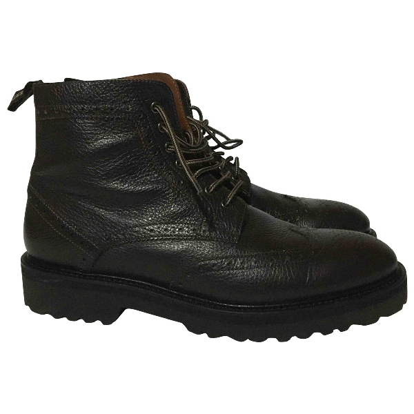 Alberto Guardiani Brown Leather Boots