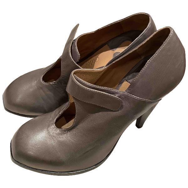 ChloÉ Grey Leather Heels