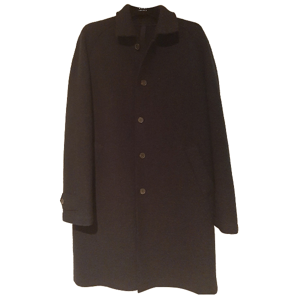 Harris Wharf London Navy Wool Coat