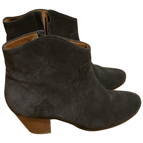 Isabel Marant Dicker Black Suede Ankle Boots