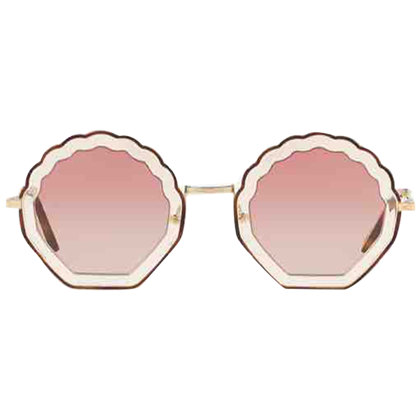 ChloÉ Pink Metal Sunglasses