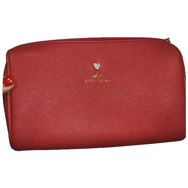 Camilla Pink Leather Clutch Bag
