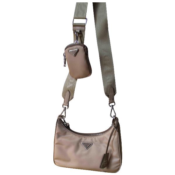 Prada Re-edition Beige Cloth Handbag