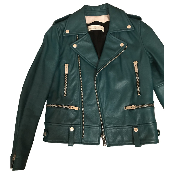 Golden Goose Green Leather Jacket