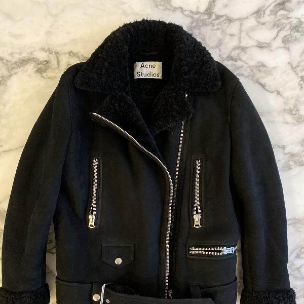 Acne Studios Velocite Black Suede Leather Jacket