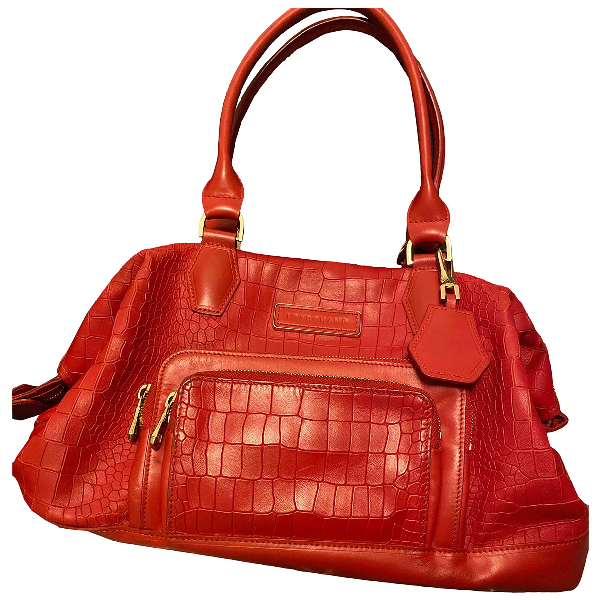 Longchamp Red Leather Handbag