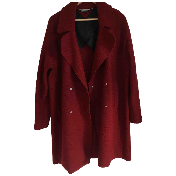 Tommy Hilfiger Red Wool Coat