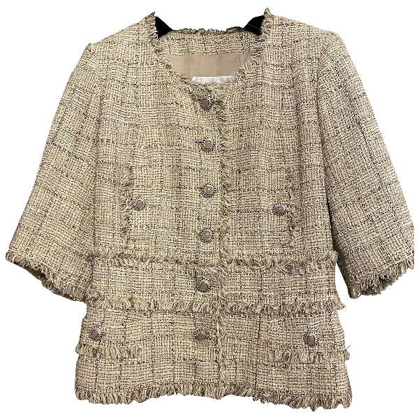 Chanel Beige Tweed Jacket
