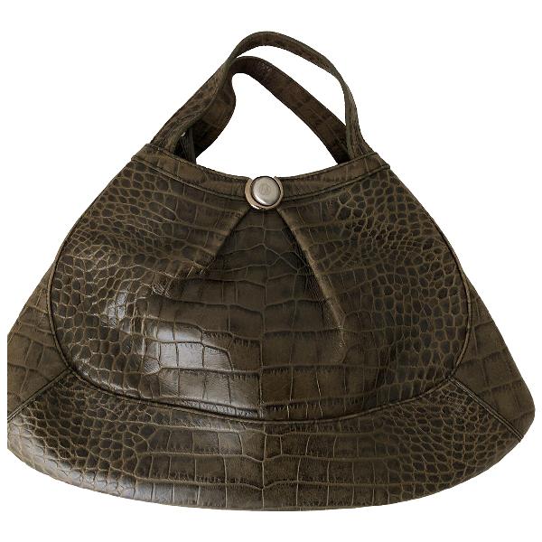 Emporio Armani Green Leather Handbag