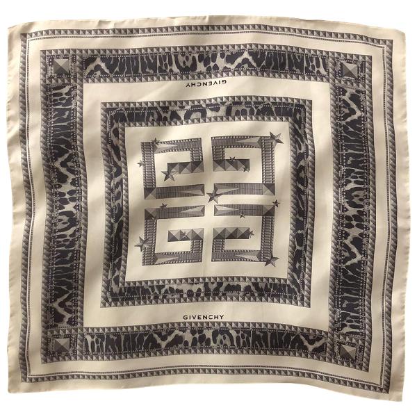 Givenchy Beige Silk Scarf