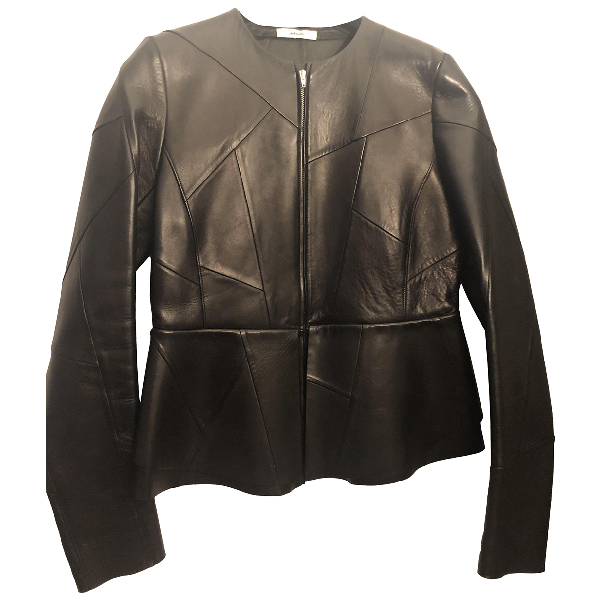 Celine Black Leather Jacket