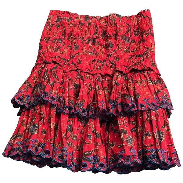 Etoile Isabel Marant Red Cotton Skirt