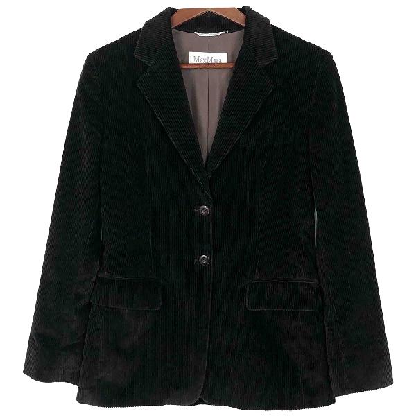 Max Mara Black Cotton Jacket