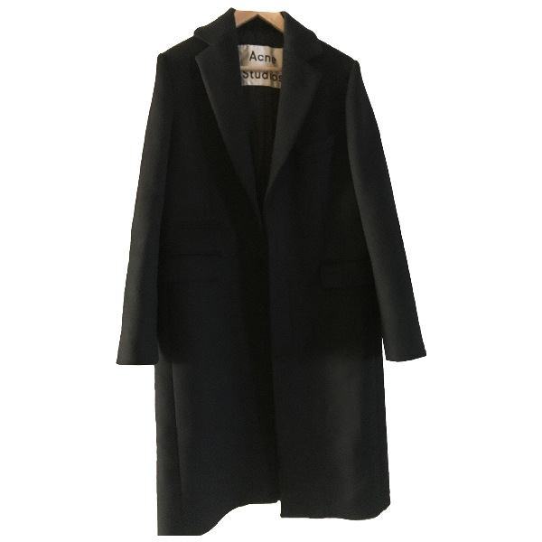 Acne Studios Black Wool Coat