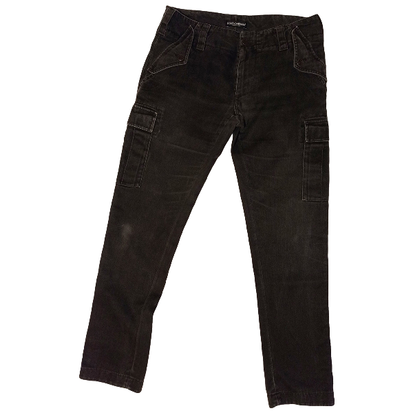 Dolce & Gabbana Anthracite Cotton Trousers