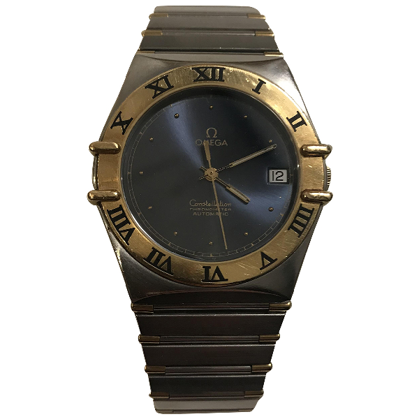 Omega Constellation Blue Gold And Steel Watch