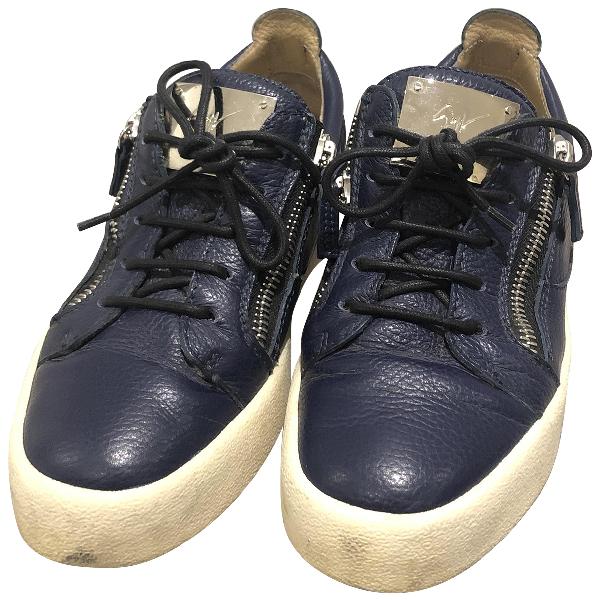 Giuseppe Zanotti Nicki Blue Leather Trainers