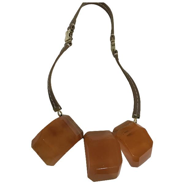 Marni Beige Metal Necklace