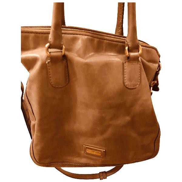 Emporio Armani Grey Leather Handbag