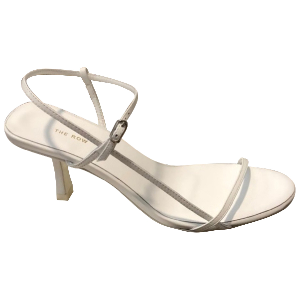 The Row Bare White Leather Sandals