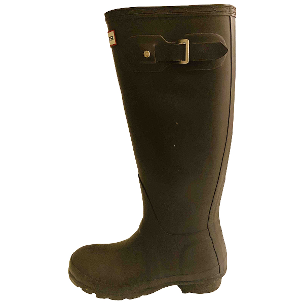 Hunter Brown Rubber Boots